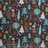 Snowfall - Tundra Dark Brown Yardage