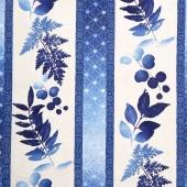 Indi-glow - Repeating Stripe Blue Yardage