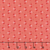 Autumn Love - Leaves Coral Yardage
