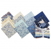 Calista Cobalt Pearlized Fat Quarter Bundle