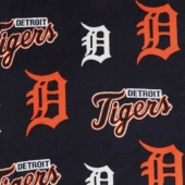 MLB Fleece - Detroit Tigers Blue Yardage