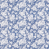 Summertime - Roses Blue Yardage