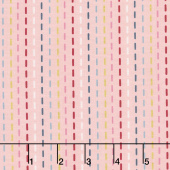 Blooms and Bobbins - Stitches Pink Metallic Yardage