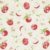 Apple Festival - Tossed Apples Cream Yardage