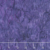 Malam Batiks V - Leaves Grape Yardage