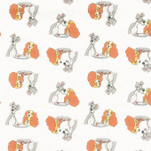 Disney Lady and the Tramp - Stars in their Eyes Cream Yardage