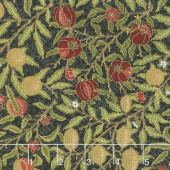 Morris Holiday 1866 - Fruit Ebony Metallic Yardage