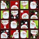 Jolly Ole' St. Nick - Santa Blocks Multi Yardage