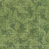 Amour - Tonal Paisley Green Yardage