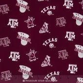 College - Texas  A & M University Tossed Allover Yardage