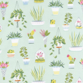 Flower Shop - Pretty Plants Sprout Yardage