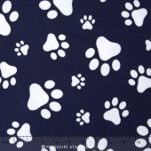 Cuddle Prints - Paws Cuddle Navy/Snow Yardage