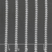 Urban Cottage - Wovens Triangle Stripe Black Ivory Yardage