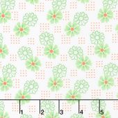 Good Day! - Perky Posies Green Yardage