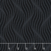 Simply Neutral - Wave Dot Black on Black Yardage