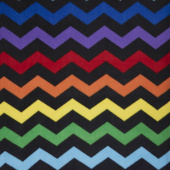 Winterfleece - Chevron Black Yardage