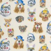 Animals - Beach Selfies Dogs Cream Yardage
