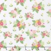 Vintage Adventure - Floral White Yardage