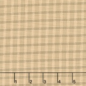Shadows and Sunshine - Plaid Tan Cream Yardage
