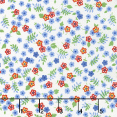 Feed Sacks: True Blue - Posies Vintage Cotton Yardage