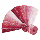 "Java Batiks Favorites Pinks 2.5"" Strips"