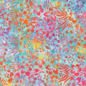 Artisan Batiks - Totally Tropical Hibiscus Flowers Rainbow Yardage