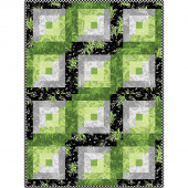 Greenery Log Cabin Quilt Pod Kit