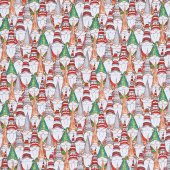 Gnoming Through the Snow - Gnome Collage Gray Yardage