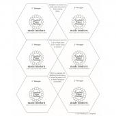 "English Paper Piecing Made Modern - 2"" Hexagons"