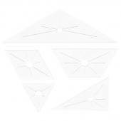 Diamond Attic Windows Cushion English Paper Piecing Templates