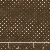 Beautiful Basics - Classic Dot Chocolate Brown Yardage