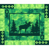 Artisan Spirit - Imagine Novelty Moose Emerald Digitally Printed Panel