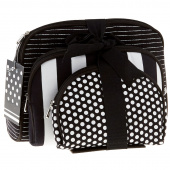 Black and White Notion Travel Bag Set