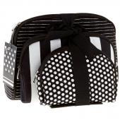 Black and White Notion Travel Bag Set