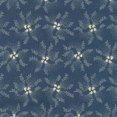 Mood in Blue - Twirling Vine Blue Yardage