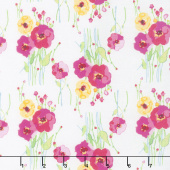Fruitful Pleasures - Floral White Yardage