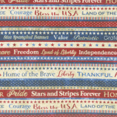 Stonehenge Stars and Stripes VI - Patriot Stripe Red Yardage