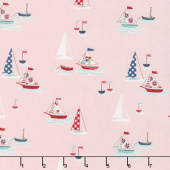 Seaside - Boats Pink Yardage