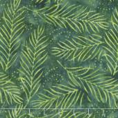 Ivy League Batiks - Delicate Fronds Dark Green Yardage