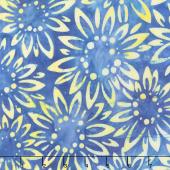 Artisan Batiks - Sunny Day Sunflowers Blue Yardage