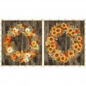 Autumn Beauties - Wreath Autumn Metallic Panel