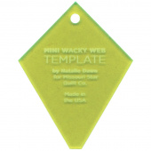 "Missouri Star Mini Periwinkle (Wacky Web) Template for 2.5"" Charm Packs"