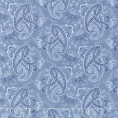 Regency Ballycastle Chintz 18th Century - Fintona English Blue Yardage