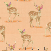 Wanderer's Weekend - Floral Fawns Apricot Yardage