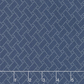 Crystal Lake - Blocks Medium Blue Yardage