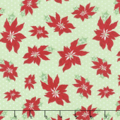 Sweet Christmas - Poinsettia Spearmint Yardage