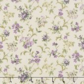 Meredith - Flowers and Vines Ivory Yardage