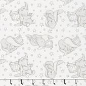 Dumbo - Stars Dark Taupe Yardage