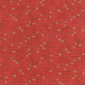 Homegrown Holidays - Holiday Handwriting Barn Red Yardage