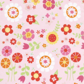 Bloom Where You're Planted - Main Pink Yardage
